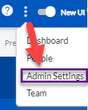 From more options to Admin Settings navigation