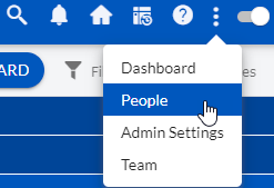 from admin to People menu navigation