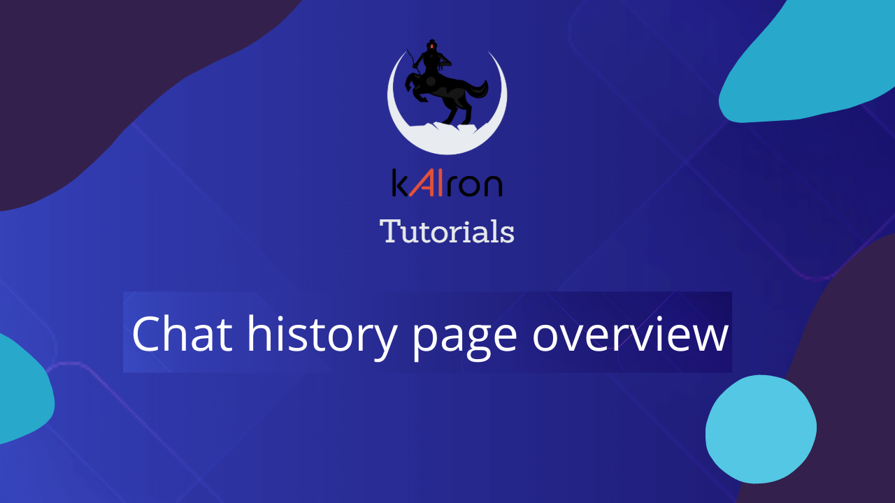 Chat history page overview