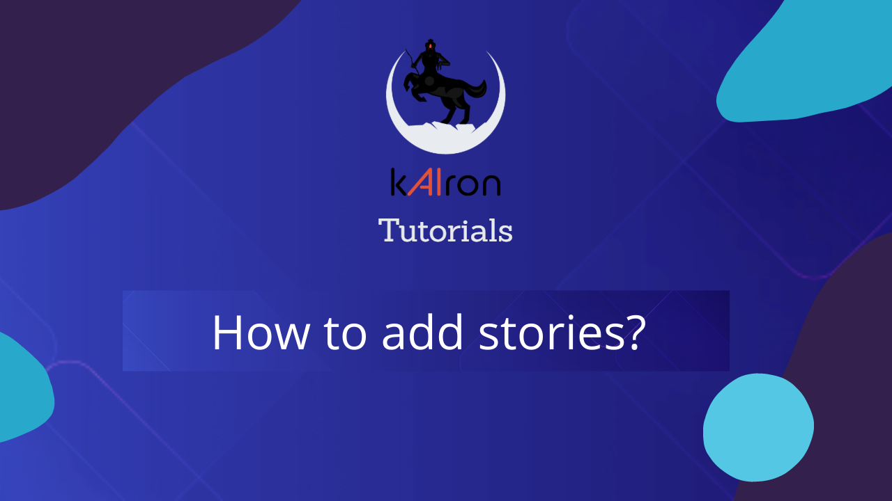 How to add stories