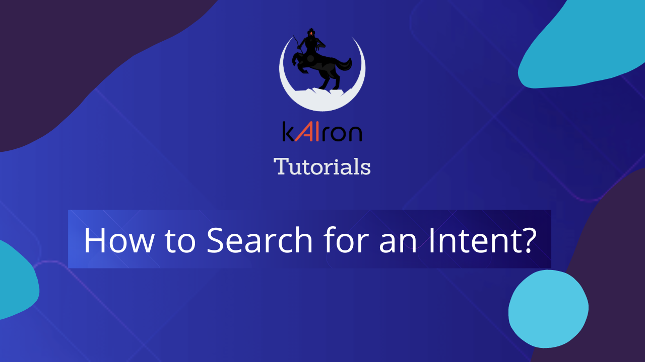search Intent in kAIron